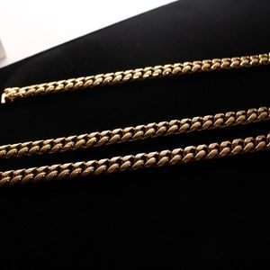 10mm Cuban Link Chain and Bracelet FULL SET
